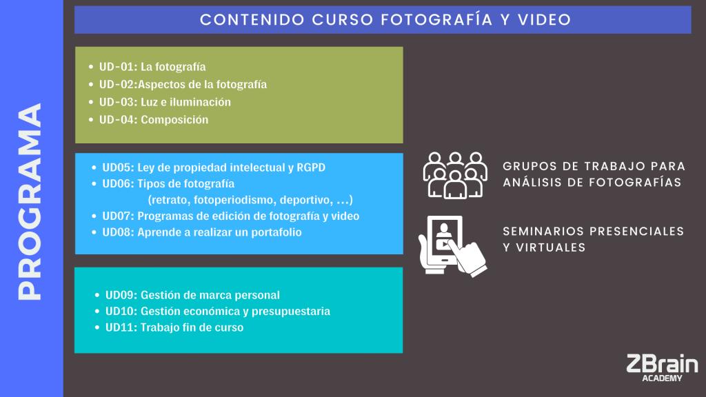 Curso de Fotografía y Vídeo profesional 3