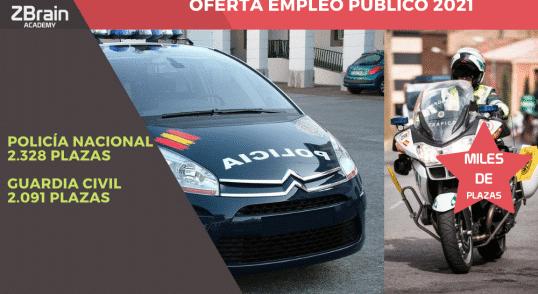 Publicada la oferta de empleo público 2021 de Policía Nacional y Guardia Civil 3