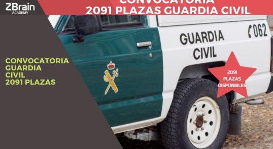 Convocadas 2.091 plazas para Guardia Civil 2