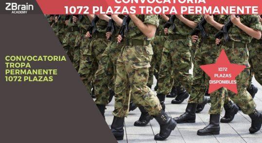 Convocadas 1.072 plazas de Tropa Permanente 4