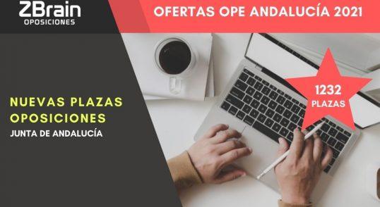 Oferta Oposiciones Junta de Andalucía 2021